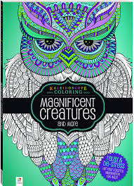 flip through kaleidoscope coloring magnificent creatures and more
