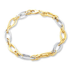 gold bracelet chains images Kay chain bracelet 10k two tone gold jpg