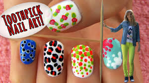 nail arts with toothpick nail art designs