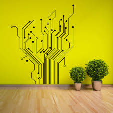details about circuit tree contempory wall art sticker decal circuit tree contempory wall art sticker decal in home furniture diy home decor