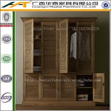 Armoire Solid Wood Shutter Double Armoire Wardrobe Furniture Oak Solid Wood Wardrobe