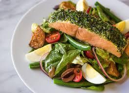 niçoise salad recipe with baked salmon and roast potatoes