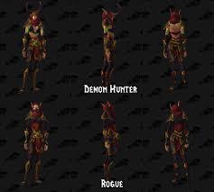 chris metzen on warcraft set demon hunter armor in dressing room
