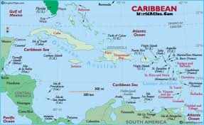 political map of central america and the caribbean ga 6th grade social studies d1 geography
