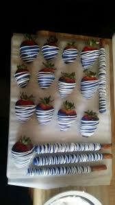 White Chocolate Strawberries And Pretzels Chocolate Covered Strawberry Pretzel Blue And White Candy Tables