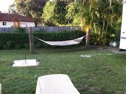 fun backyard hammock horseshoes fire pit next is