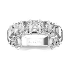 diamond wedding bands for classic emerald cut lab created diamond wedding band for women