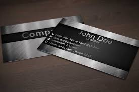 Automotive Business Card Templates Creative Business Card Design On Brushed Metal Background Jpg