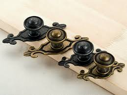 backplates for knobs on kitchen cabinets antique black bronze dresser knobs drawer handles backplate