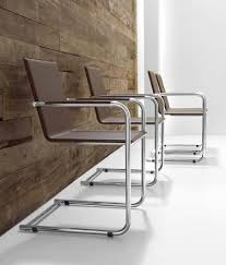 Metal Armchair Office Armchair Made Of Metal And Leather With Armrests Idfdesign