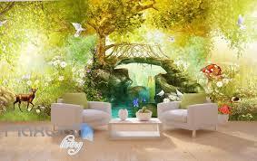 3d vintage fairy garden wall murals wallpaper decals art print