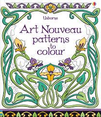 art nouveau patterns colour u201d usborne children u0027s books