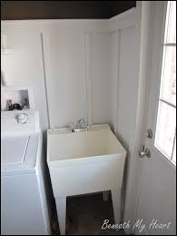 Laundry Room With Sink Dressing Up A Mud Room Sink Beneath My