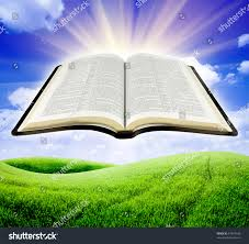 illustration opened bible sun rays stock illustration 81974443