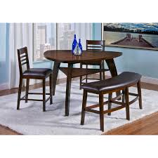 furniture triangular wood dining table with curved upholstered