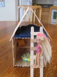 almost unschoolers popsicle stick polly pocket house