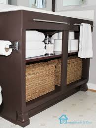 appealing dark brown polished ikea bathroom vanity with two tier