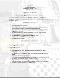 Resume Templates Samples Free Computer Technician Resume Examples Samples Free Edit With Word