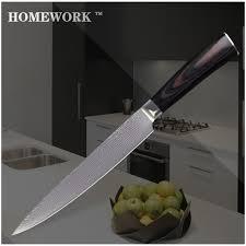 vg10 kitchen knives xyj brand damascus style knife 8 inch slicing knife vg10 damascus