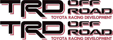 logo de toyota toyota trd off road 4x4 tundra tacoma sport truck decal sticker x2