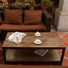 handmade wood coffee table iron coffee table creative leisure living room furniture tea table