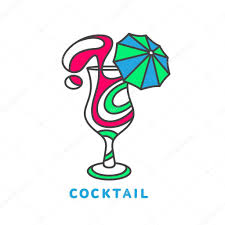 cocktail logo colorful abstract cocktail logo u2014 stock vector sabelskaya 121771072