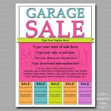13 cool garage sale flyers printaholic com