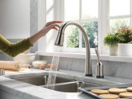 kitchen faucets touch touch activated kitchen faucet delta pilar pull faucet with