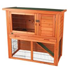 Hutch 3 Trixie 4 Ft X 2 Ft X 3 Ft Rabbit Hutch With Sloped Roof 62302