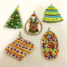 barn fused glass ornaments for adults youth