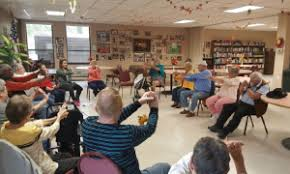 Armchair Yoga For Seniors Chair Yoga Is A Hit For Seniors With Limited Mobility