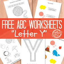 letter y worksheets free kids printable