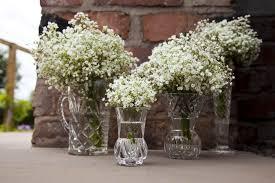 baby breath centerpieces gling wedding centerpieces vintage vases babys breath onewed