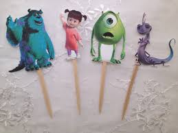 monsters cupcake toppers sully mike wazowski boo randall