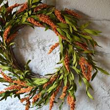 silk wreaths faux floral wreath artificial wreath synthetic