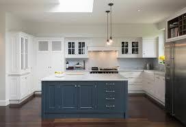 White Blue Kitchen Amazing Kitchen Features Mini Glass Cone Pendants Illuminating A