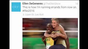 Ellen Degeneres Meme - is ellen degeneres racist because of usain bolt meme youtube