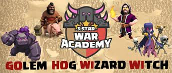 free clash of clans wizard gohowiwi golem hog rider wizard witch th9 attack guide