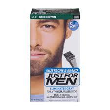 just for men mustache u0026 beard brush in color gel m 45 dark brown
