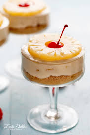 no bake pineapple cheesecakes cafe delites