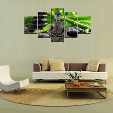 gifts for home decoration hd picture canvas print lucky bamboo and buddha painting art