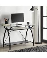 Office Desk With Keyboard Tray Home Office Glass Desks Deals U0026 Sales At Shop Better Homes U0026 Gardens