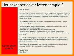 domestic housekeeper cover letter