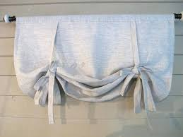 Pull Up Curtains Balloon Tie Up Curtains Gray Linen Roll Up Shade Stage Coach