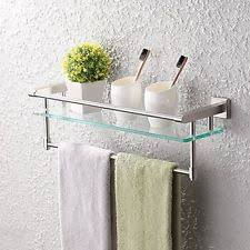 Bathroom Towel Shelves Wall Mounted Stainless Steel Bathroom Shelves Ebay