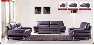 Italian Leather Sofa Set Esf Modern 2757 Full Purple Italian Leather Sofa Contemporary