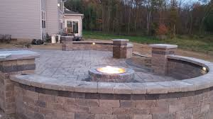 outdoor fireplace photos baron landscaping cleveland oh