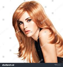 hair style in long hair beautiful woman long straight red hair stock photo 368139191