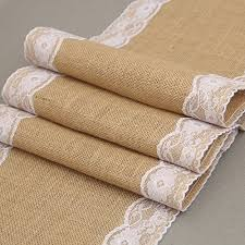 Burlap Lace Table Runner Sellify 30x180cm Jute Burlap Lace Hessian Table Runner Vintage