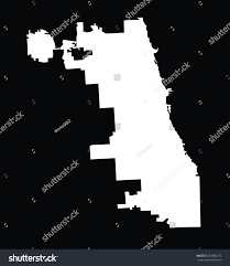 Chicago City Map by Chicago City White Map Vector Map Stock Vector 303080375